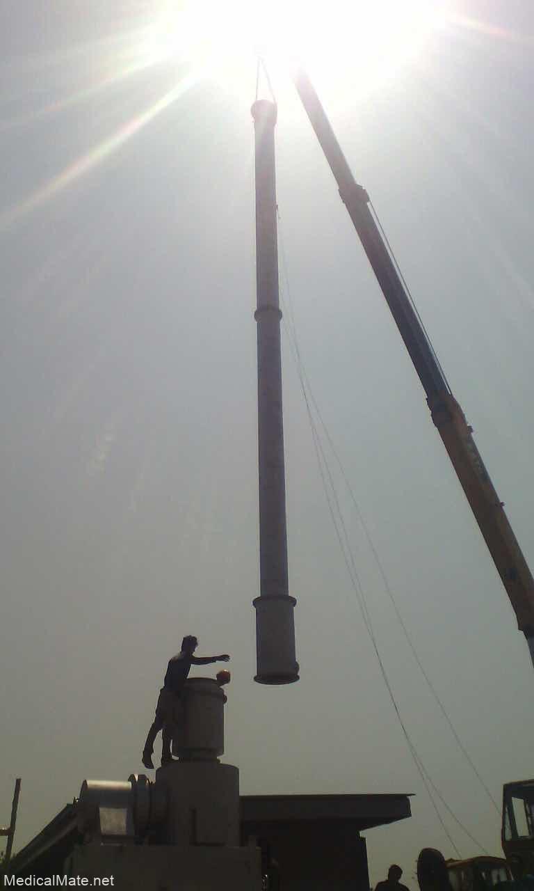 instal waste incinerator chimney