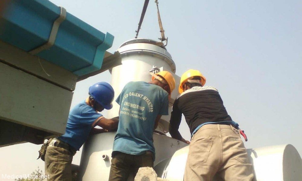 waste incinerator smoke filter chamber installation