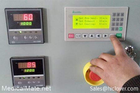 Temperature display and program set up (TS Model).